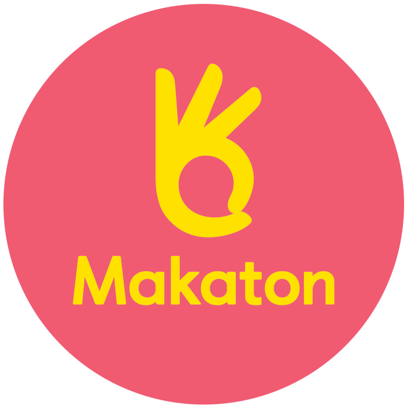 Makaton 3rdParty Badge CMYK Red