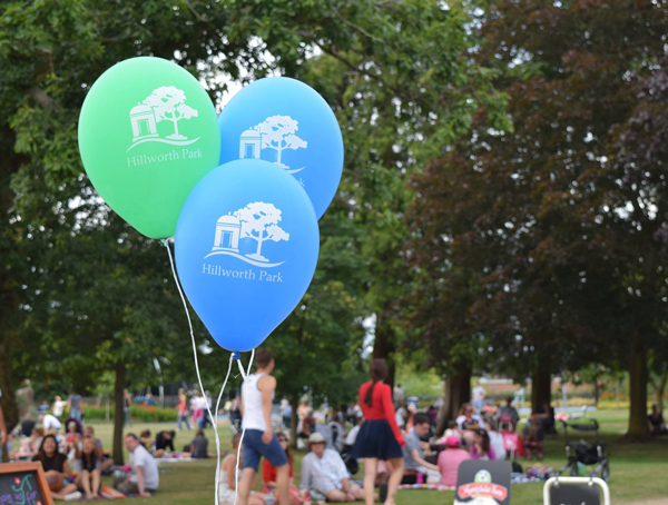 Balloons in Hillworth Park